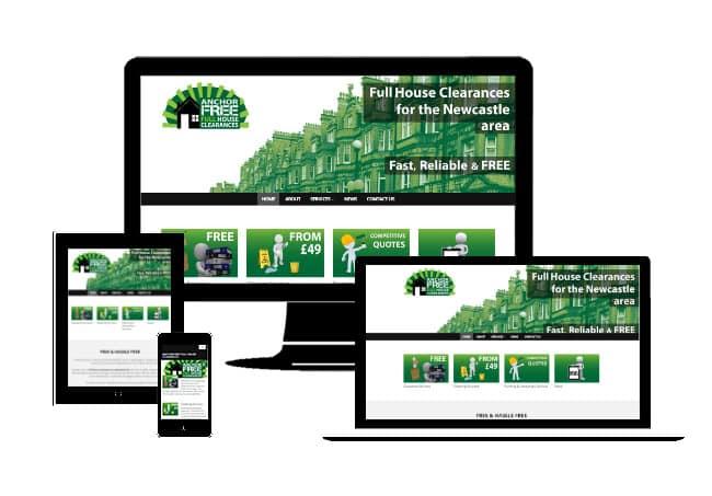 Anchor Free Full House Clearances - Portfolio Web Design