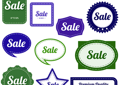 green & purple vintage sale graphics