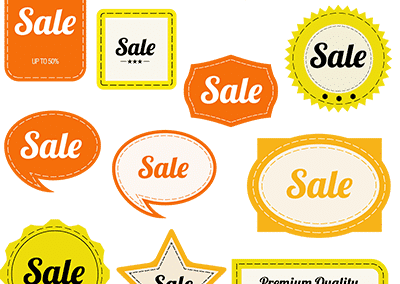 orange vintage sale graphics