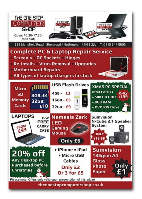 Computer Shop Advert Design