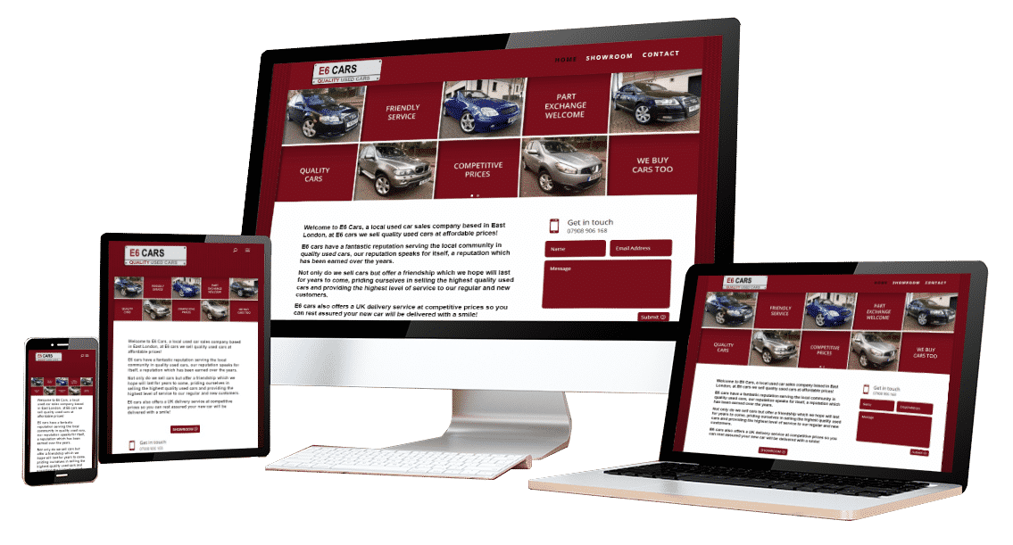 E6 Cars - Portfolio Web Design